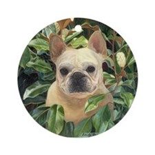 "Frenchie ""Magnolia"" Ornament (Round)"