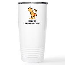 Hey Cancer -- Cancer Awareness Travel Mug