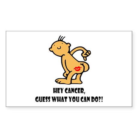 Hey Cancer -- Cancer Awareness Sticker (Rectangle