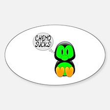 Chemo Sucks -- Cancer Awareness Sticker (Oval)