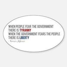 """Tyranny vs. Liberty"" Decal"