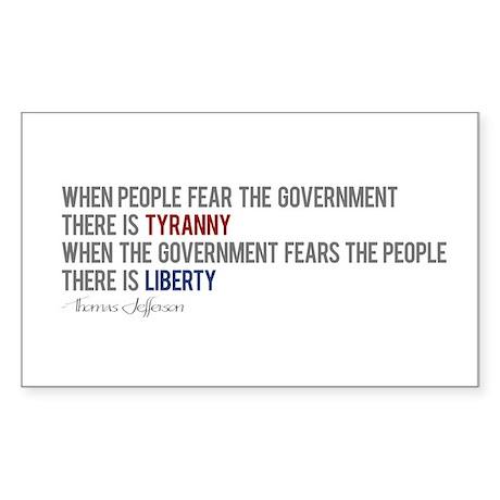 """Tyranny vs. Liberty"" Sticker (Rectangle)"