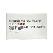 """Tyranny vs. Liberty"" Rectangle Magnet"