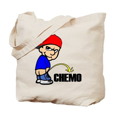 Piss On Chemo -- Cancer Awareness Tote Bag