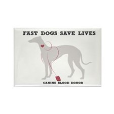 Fast Dogs Save Lives Rectangle Magnet