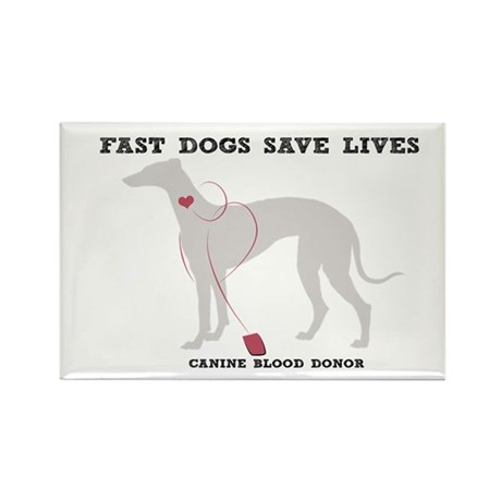 Fast Dogs Save Lives Rectangle Magnet (100 pack)