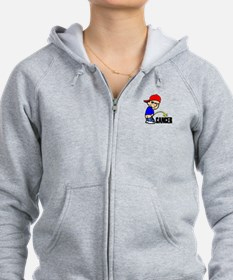 Piss On Cancer -- Cancer Awareness Zip Hoodie