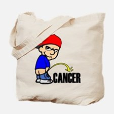 Piss On Cancer -- Cancer Awareness Tote Bag
