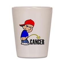 Piss On Cancer -- Cancer Awareness Shot Glass