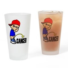 Piss On Cancer -- Cancer Awareness Drinking Glass