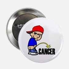 "Piss On Cancer -- Cancer Awareness 2.25"" Button"