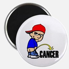 "Piss On Cancer -- Cancer Awareness 2.25"" Magnet (1"