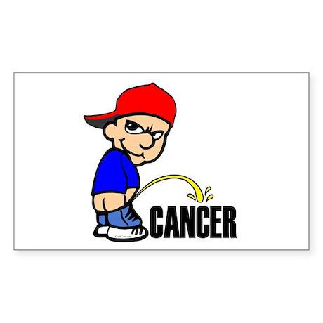 Piss On Cancer -- Cancer Awareness Sticker (Rectan