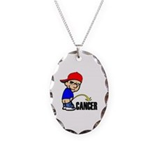 Piss On Cancer -- Cancer Awareness Necklace Oval C