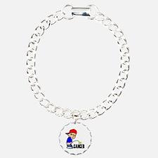 Piss On Cancer -- Cancer Awareness Charm Bracelet,