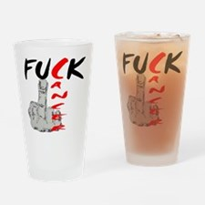 Fuck Cancer -- Cancer Awareness Drinking Glass