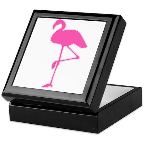 Pink Flamingo Keepsake Box