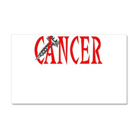 Screw Cancer -- Cancer Awareness Car Magnet 20 x 1