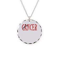Screw Cancer -- Cancer Awareness Necklace Circle C