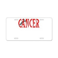 Screw Cancer -- Cancer Awareness Aluminum License