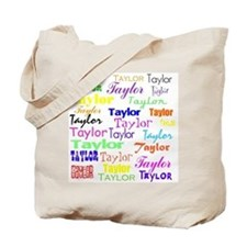Cute Girls name taylor Tote Bag