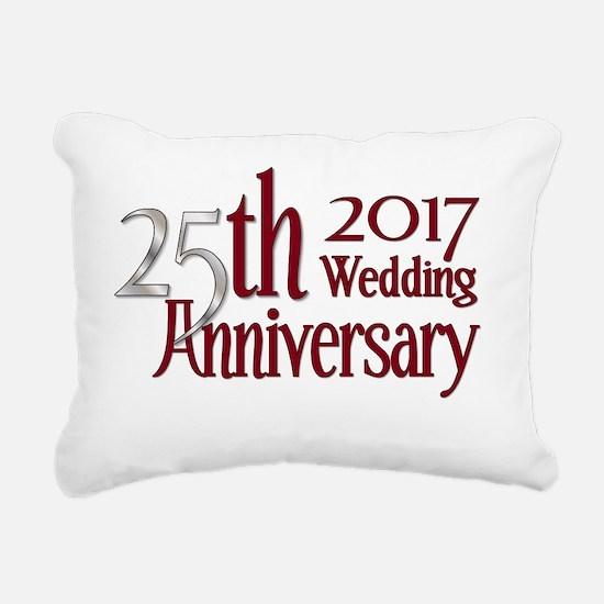 Cute Silver anniversary Rectangular Canvas Pillow