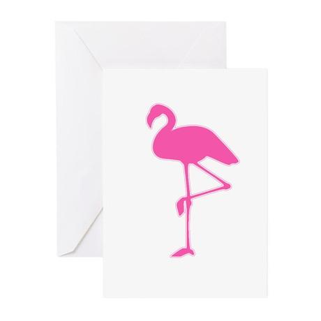 Pink Flamingo Cards (Pk of 10)