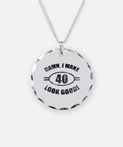 Damn Funny 40th Birthday Necklace