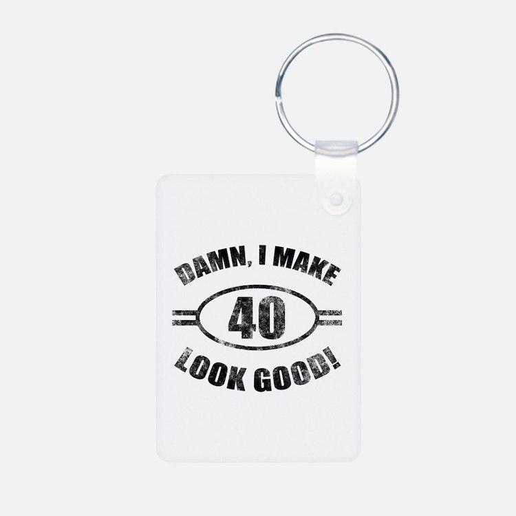Damn Funny 40th Birthday Keychains