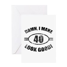 Damn Funny 40th Birthday Greeting Card