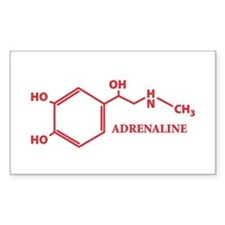 Adrenaline Molecule Rectangle Decal