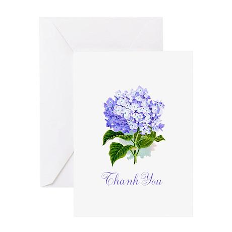 Hydrangea Thank You Greeting Card
