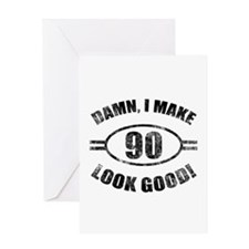 Damn Funny 90th Birthday Greeting Card