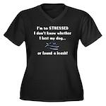 I'm So Stressed Women's Plus Size V-Neck Dark T-Sh