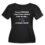 I'm So Stressed Women's Plus Size Scoop Neck Dark
