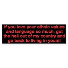"""American Values"" Bumper Bumper Sticker"