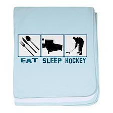 Cute Eat sleep hockey baby blanket