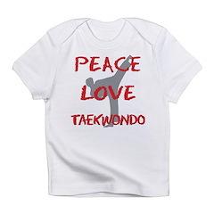 Peace Love Taekwondo Infant T-Shirt