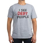 I See Debt People Men's Fitted T-Shirt (dark)
