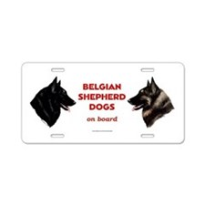 Belgian Shepherd Dog Aluminum License Plate