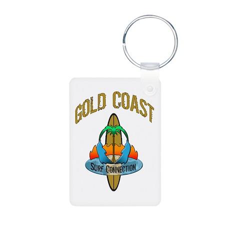 Gold Coast Surf Aluminum Photo Keychain