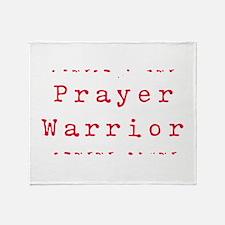 Prayer Warrioir Throw Blanket
