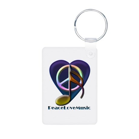 Peacelovemusic3 Aluminum Photo Keychain