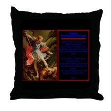 St. Michael - Throw Pillow with Prayer