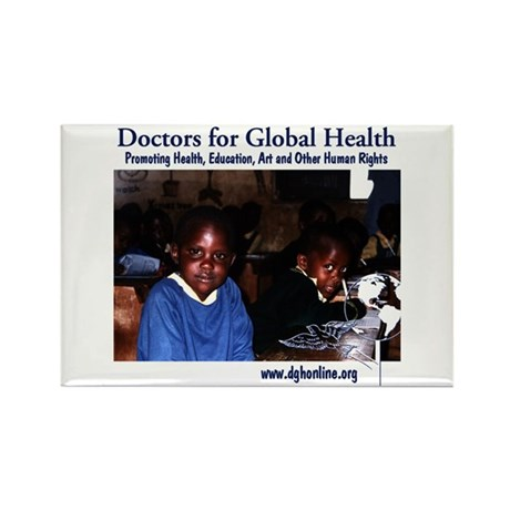 Doctors for Global Health Rectangle Magnet (100 pa