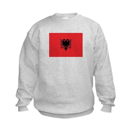Albanian Flag Kids Sweatshirt