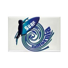 Surf California Rectangle Magnet (100 pack)