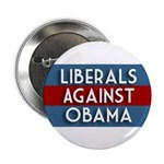 Liberals Against Obama campaign button