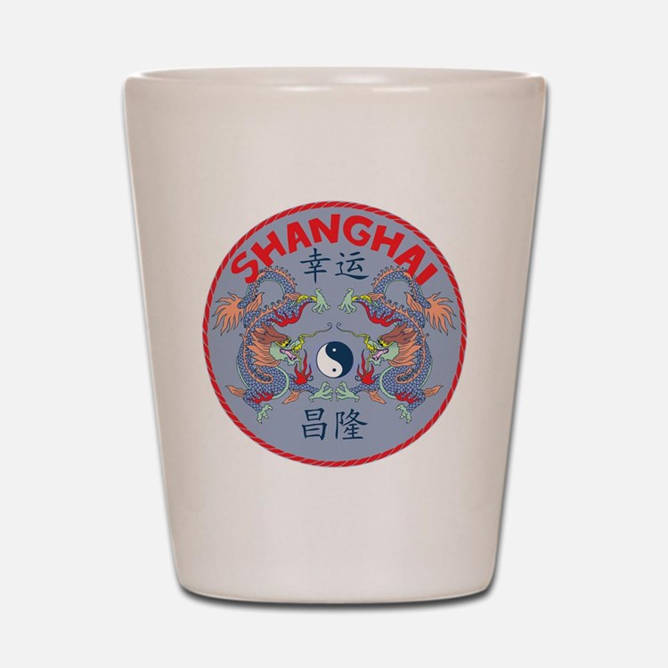 Shanghai Dragons Shot Glass