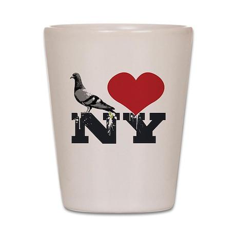 NY Pigeon Shot Glass